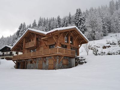 Photo for Beautiful, luxury self-catered chalet, newly built, outdoor hot tub, great views