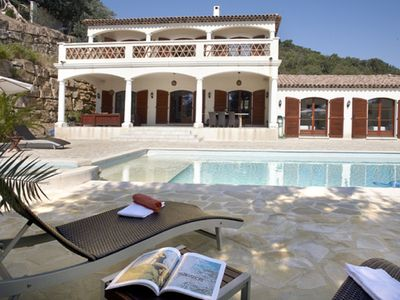 Photo for Luxury villa in Ste-Maxime with spacious, private swimming pool, outdoor kitchen and roof terrace