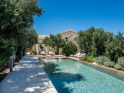 Photo for Blissful! Elegant stone villa with private pool, close to the beach