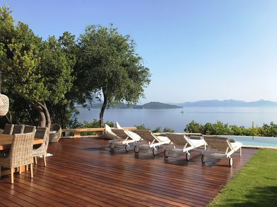 Photo for Premier Villa Eugenia  - Private Pool, Beach, Boat Pontoon and 2 Electric Bikes
