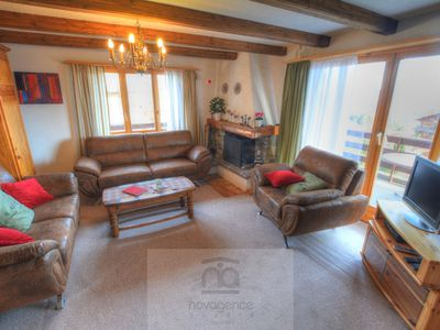Photo for 3-room apartment on 1st floor: living/dining room with open fireplace, dining corner, cable-TV and D