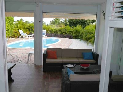 Photo for CHARMING BUNGALOW 3 ROOMS WITH PRIVATE POOL SAINT-FRANCOIS