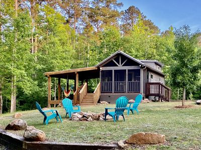 Secluded Log Cabin Tiny House In the Woods & On Lake Russell - Dog Friendly