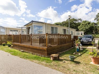 Photo for Luxury caravan with a part seaview for hire near the beach ref 32026 .