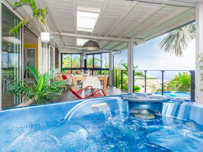 Photo for Villa Amandine - sea view, jacuzzi and pool