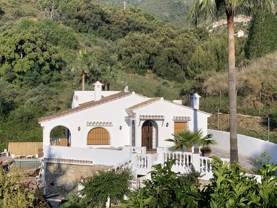 Photo for Confortable charming family house private pool near the sea Ojen andalusian town