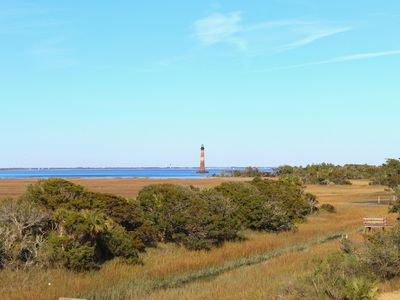 Photo for Stilted Views ~ Across St. From Beach w/Lighthouse Views!