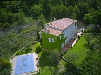Photo for Beautiful farmhouse with pool for 12 perso the heart of the Drôme Provençale