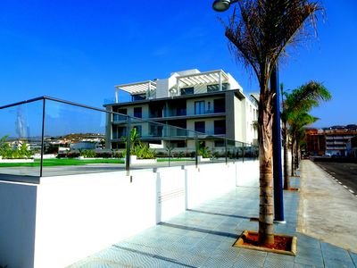 Photo for First line, next door to the sea and pool, roof terrace, family friendly