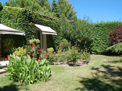 Photo for BEAUTIFUL APARTMENT AV GARDEN AVIGNON, IN THE HEART OF PROVENCE NEAR LUBERON