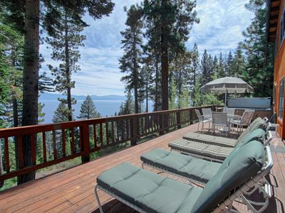 Photo for Great Tahoe Home with 60-Foot Deck & Panoramic Lake Tahoe View