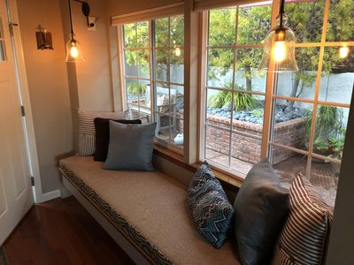 Quiet and serene. Long bay window, perfect for enjoying your morning coffee.