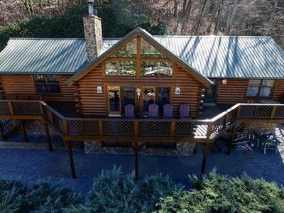 Photo for 5 Bed 3 Bath Stunning Views, Paved Year Round Access, Hot Tub, Game Room