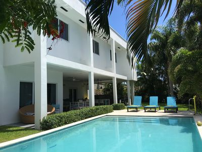 Photo for Gorgeous waterfront House, Chic and modern design, private pool and deck