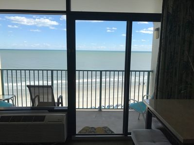 Ocean front view from private balcony