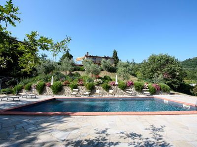 "Photo for Villa for 10 people with pool with a ""truly wonderful"" view to Lake Trasimeno"