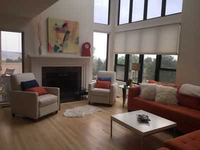 Photo for Contemporary home in Golden. Gorgeous interior-VIEWS from every room!