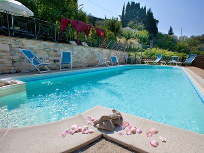 Holiday rental in Perugia  - The new eco pool with salt water -  stay in Perugia