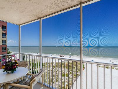 Photo for Right on the Beach! Lovely Condo with Picturesque Gulf Views from Screened Lanai!