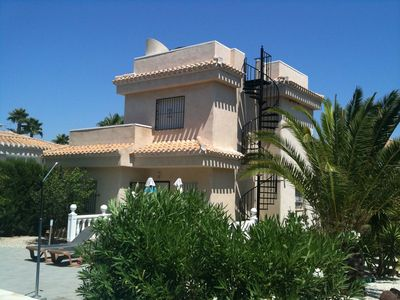 Photo for First class 3 bed villa with large private pool at end of quiet cul de sac
