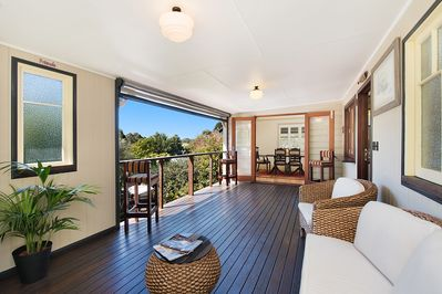 Room to relax on our  large patio overlooking the gardens