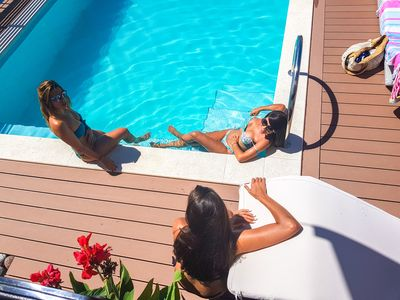Pool and sundeck area