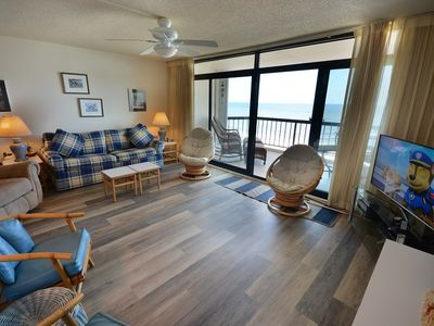 Photo for Adorable two bedroom condo with modern embellishings and WiFi located right off the beach