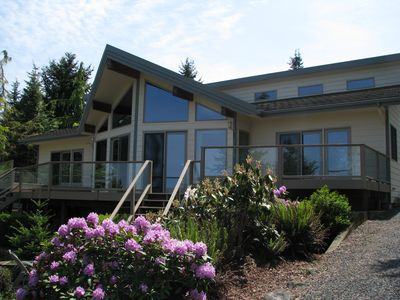 Photo for Spacious Home w/ Pool & Hot Tub- Great View  Between Port Angeles & Sequim!