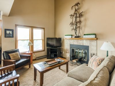 Photo for NEW LISTING! Inviting retreat w/ loft, wood fireplace, & shared pool/hot tub!