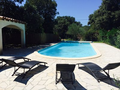 Photo for Ideal 2 families South facing villa 10 pers, 5 ch, Gd garden & private pool