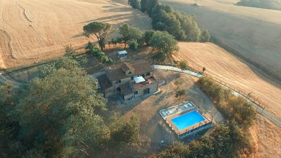 Photo for Villa I Sorbi country resort with pool, in Lajatico close to Bocelli's concert
