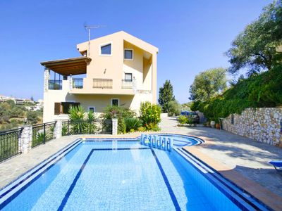 Photo for Ano Stalos Holiday Home, Sleeps 8 with Pool, Air Con and WiFi