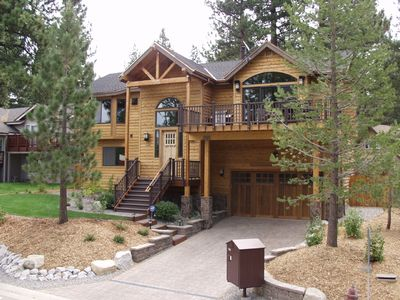 Photo for Tahoe Heavenly Mountain Luxury Vacation Home, HDTV, Hot Tub, Pooltable, Yard