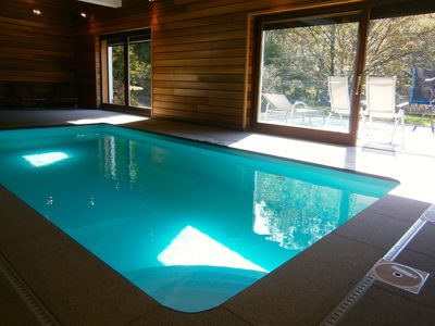 Photo for Valley Lodge: 20-30 people - Savoy style - pool - near Spa - Belgian Ardennes