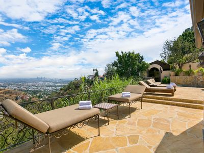 Photo for Hollywood Hills Villa above Sunset Strip! Pool, Hot Tub, Firepit, and Wow! Views