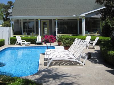 Photo for 2 Separate Houses-Heated Pool-72 Reviews-Golf Cart Incl Off Season-For Rent Peak