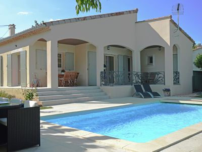 Photo for Luxury villa with private pool and breathtaking view, nearby village