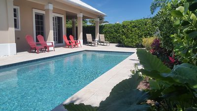 Photo for Gorgeous Private Pool Home! Walk to the Ocean and Town Beaches!