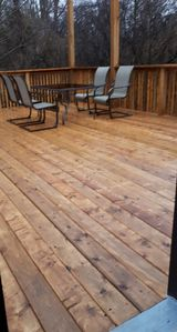 2019 NEW Large Back deck - Smoking allowed in this area
