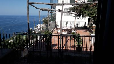 Photo for AMALFI COAST new house just RENOVATED WITH SEA VIEW TERRACE