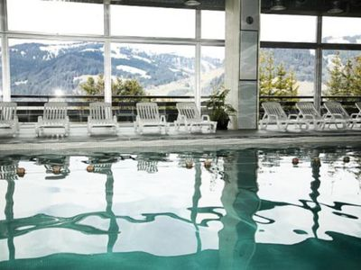 Photo for Studio sleeps 4 with private garden at the foot of the slopes of Megeve