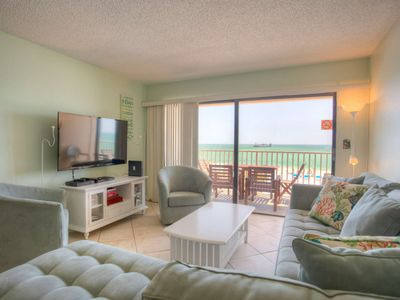Photo for Directly on the beach and directly across from John's Pass Village.  Best Location.  Best View!