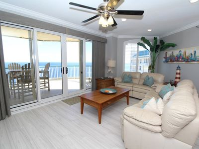 Photo for Beach Colony Tower Penthouse 18C- Beach Front unit with large terrace!