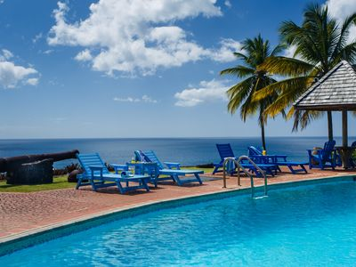 Photo for St. Lucia Private Oceanfront Secluded Villa with Pool/Full Staff Including Chef
