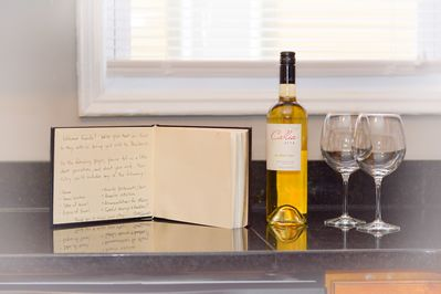 A complimentary bottle of wine will be waiting for you upon your arrival!