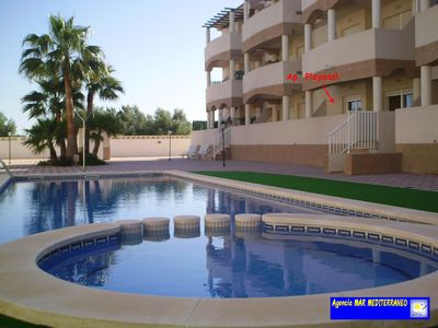 Photo for Vinaros: Beautiful apartment with pool, near the sea
