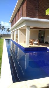 Photo for Beachfront house, gated community, own pool