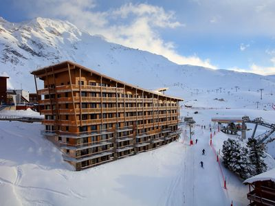 Photo for Top Résidence with indoor swimming pool, right by the Arc 2000 pistes