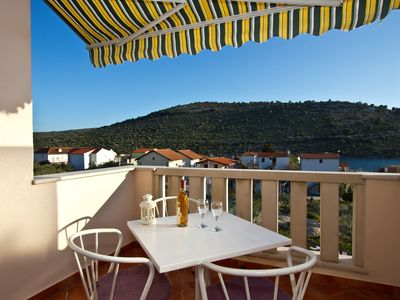 Photo for A2 spacious studio with big terrace sea view