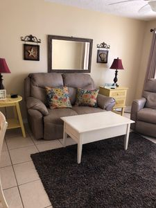 Living room - comfy couches.